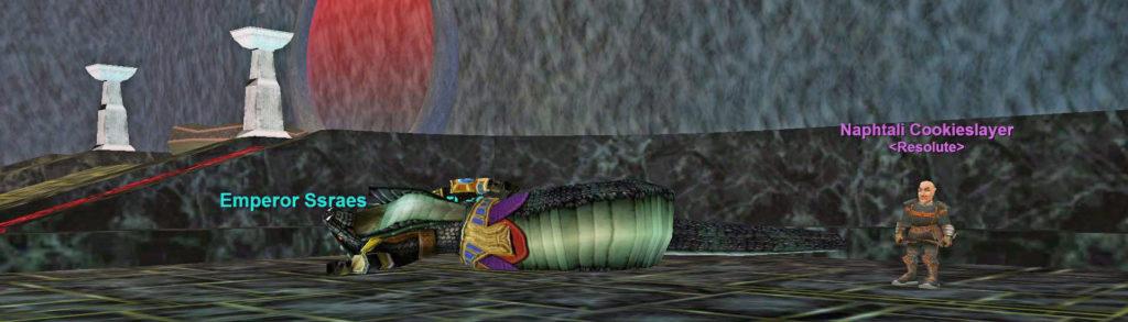 Ssraeshza Temple Defeated